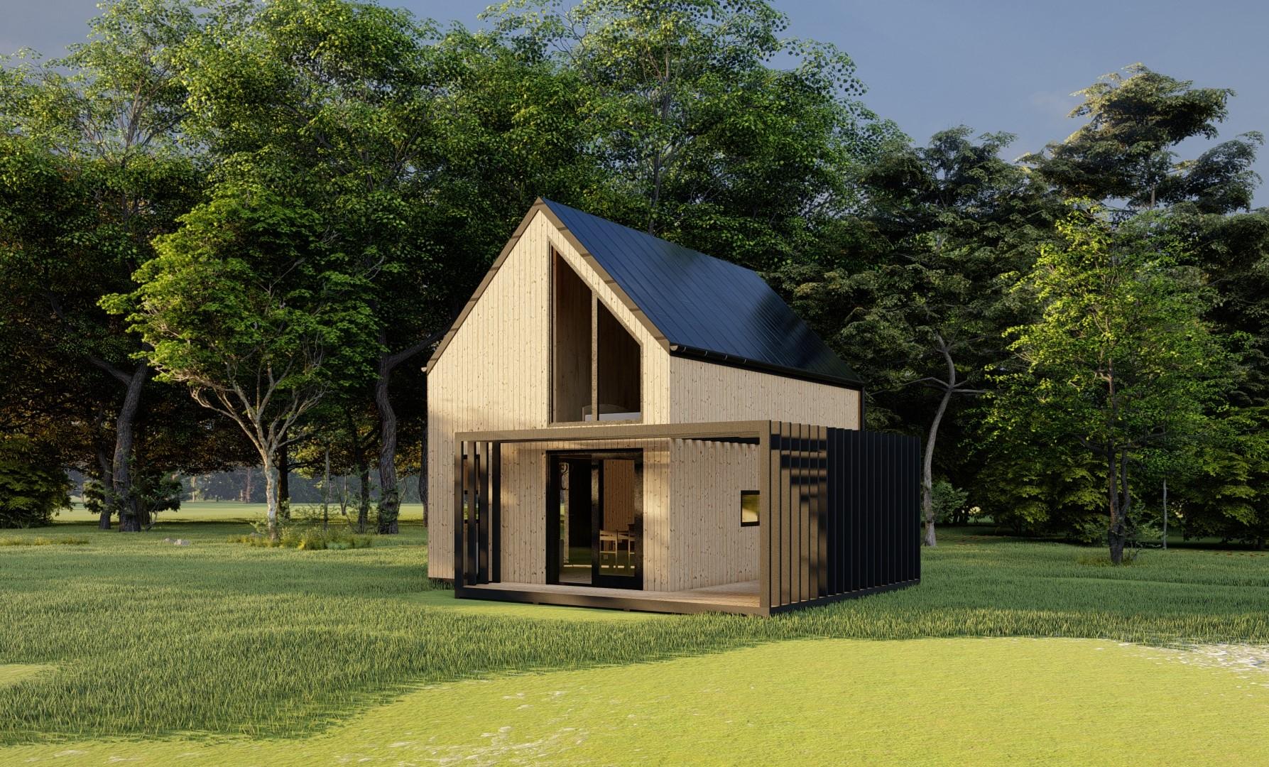 Projekt domu za miastem